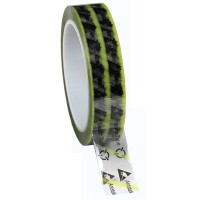 ESD Clear Cellulose Tape with Symbols (yellow)