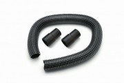 Flexible extraction hose with sleeves