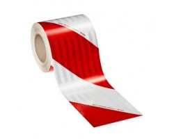 High Intensity Prismatic retroreflective tape white/Red