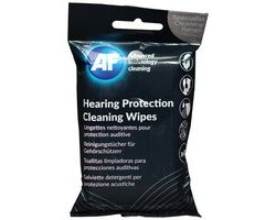 Cleaning wipes for hearing protection