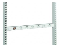 Energy rail M750 6 sockets + on/off switch