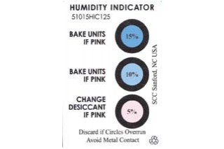 - 3 spot humidity indicator card 51015HIC125