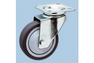 - swivel castor with plate (without brake)