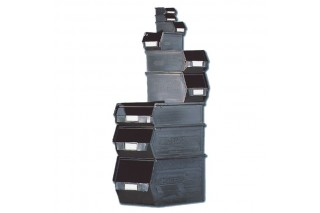 - Stackable plastic bins conductive