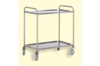 ITECO - Stainless steel trolley with 2 shelves