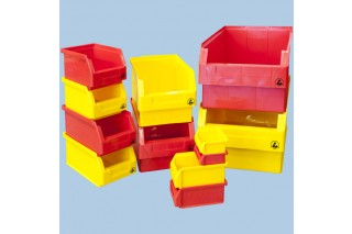 - ESD stackable plastic bins