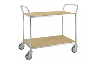 - ESD table trolley  with shelves two handle