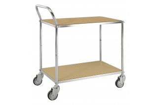 - ESD table trolley with shelves one handle