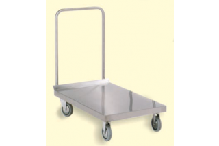ITECO - Stainless steel trolley with single sheet metal shelf