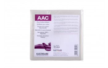 ELECTROLUBE - Pure cotton wipes