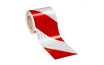 3M - High Intensity Prismatic retroreflective tape white/Red