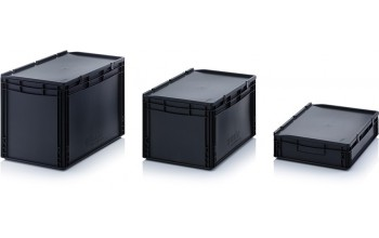 - ESD Euro containers with hinged lid