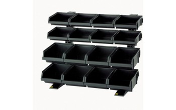 - Table rack with 16 bins
