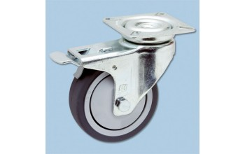 - swivel castor with plate (+brake)