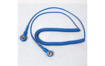 - Coiled cord with female studs