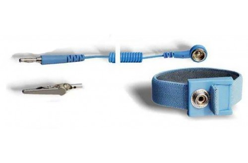 ITECO - Adjustable wrist strap DK10 with coiled cord DK10 / banana plug