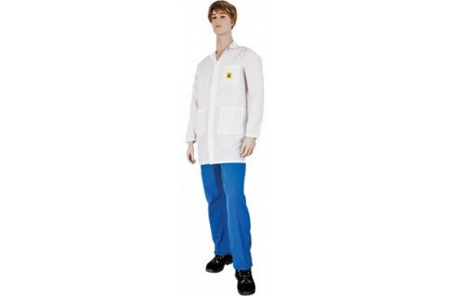 - ESD SMOCK 1/2 UNISEX TH55 WHITE M