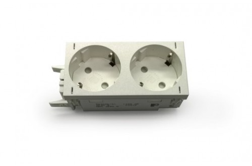 - Double socket for power channel