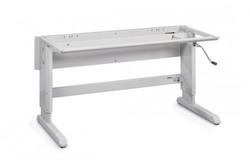 - CONCEPT WORKTABLE HANDCRANK, ESD GREY (RAL 7035)
