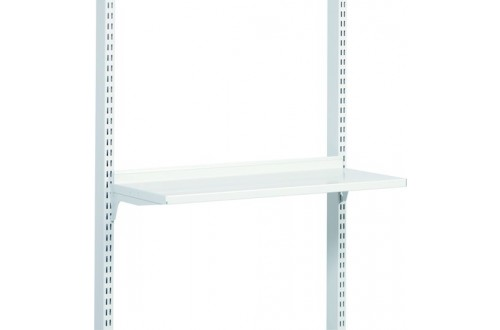 - STEEL SHELF M900x400, BRACKETS, ESD GREY (RAL 7035)