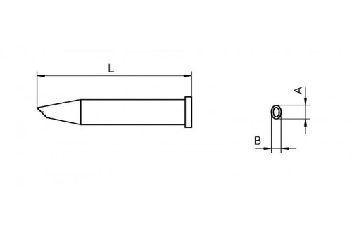 Weller T0054473599 XT GW2 SOLDERING TIP 3.5//4.8MM Black