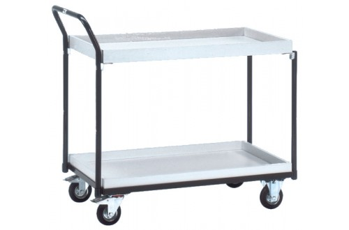 - ESD CART  2 SHELVES, LOAD AREA: 1000 x 600mm, CASTOR DIAM: 125mm