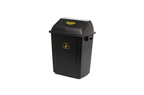 - ESD WASTE BIN 325x225x450mm WITH LID 20L CAPACITY